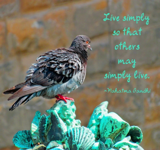 Gandhi quote about living simply.