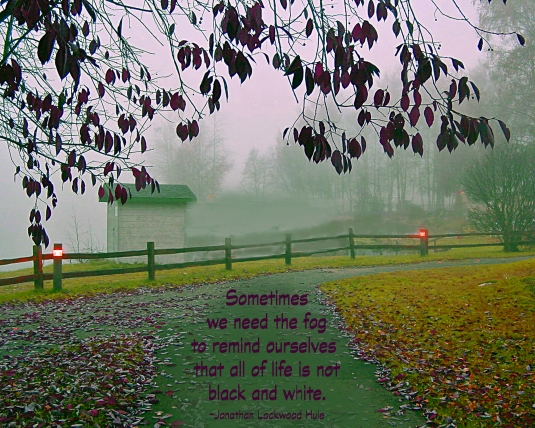 A quote about fog