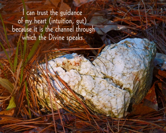 Affirmation about trusting our hearts.