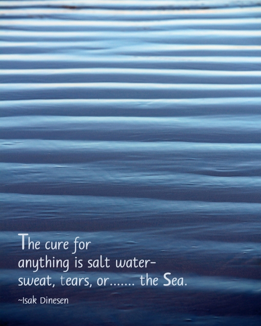 Nature quote about the sea.