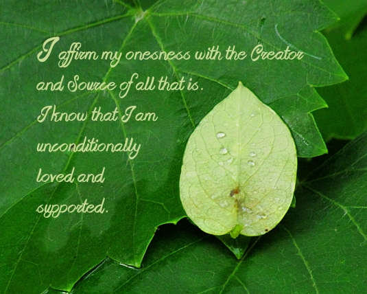Affirmation about oneness.