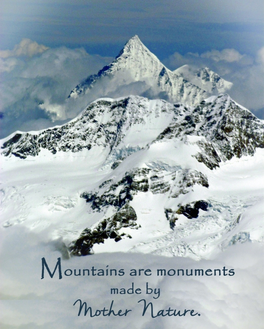 Nature quote about mountains.
