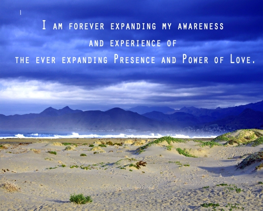 Affirmation about awareness of love.