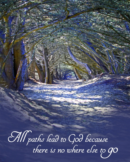 Inspirational quote about all paths leading to God