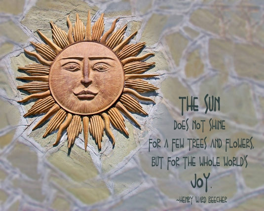 Nature quote about the sun.