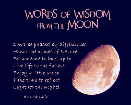 Words of Wisdom from the Moon