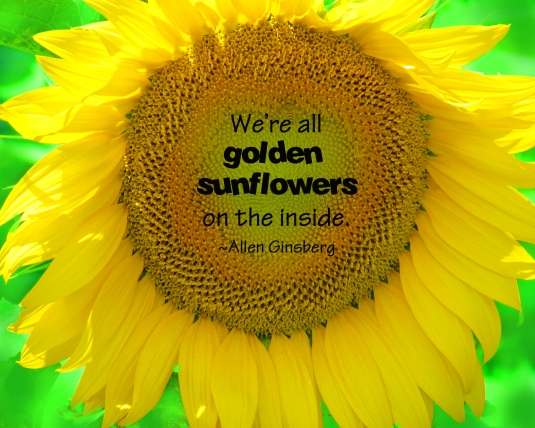 Allen Ginsberg sunflower quote.