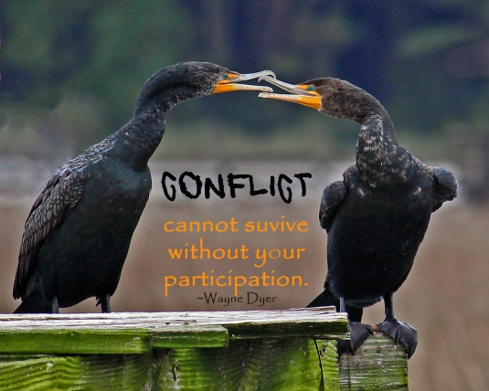 Wayne Dyer quote about conflict.