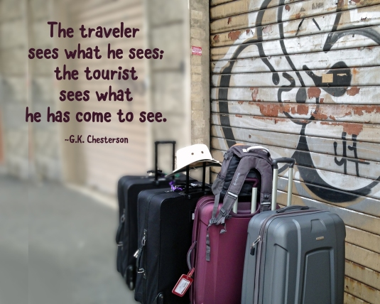 Inspirational quote about seeing what we expect to see.