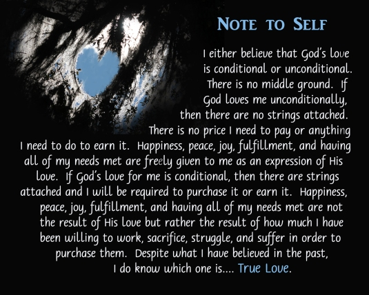 Note to Self about the Love of God.