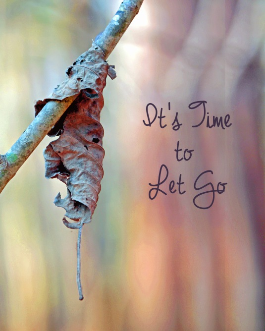 Inspirational quote about letting go.