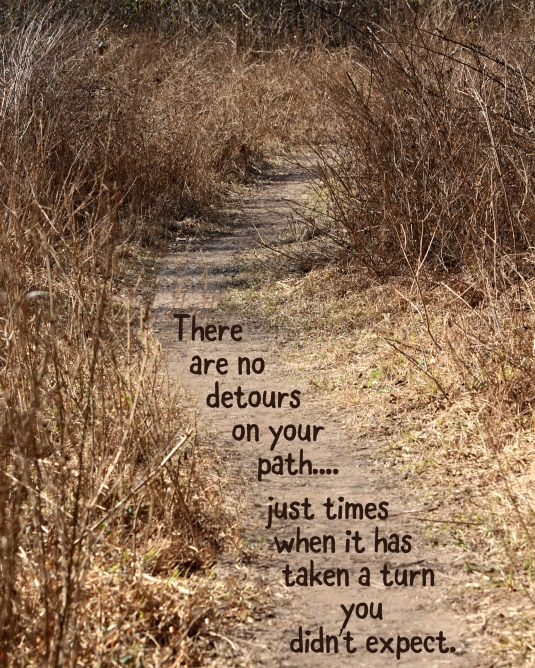 Inspirational quote about our perfect path.