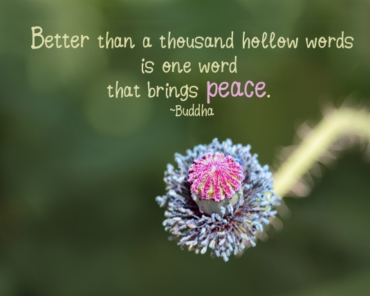 Buddha quote about peace.
