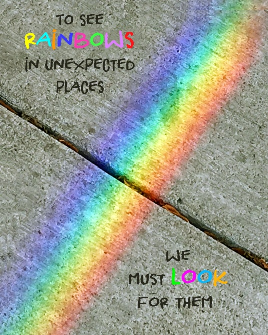 Quote about rainbows.