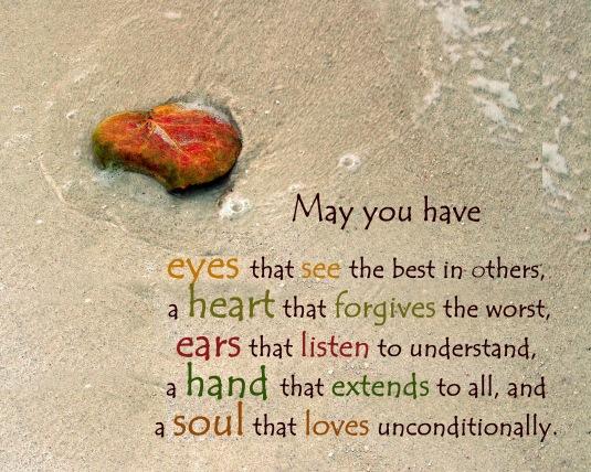 An inspirational blessing.