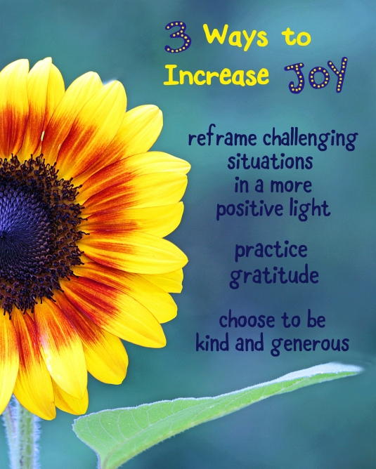 3 ways to increase joy