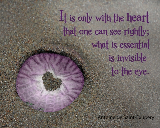 Saint-Exuprey quote about seeing with the heart.