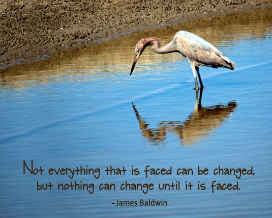 James Baldwin quote about change.
