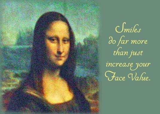 Quote about the positive effects of smiling.