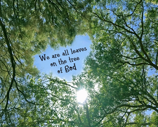 Inspirational quote: We are all leaves on the tree of God.