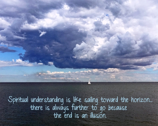 A quote about limitless ocean of spiritual understanding.