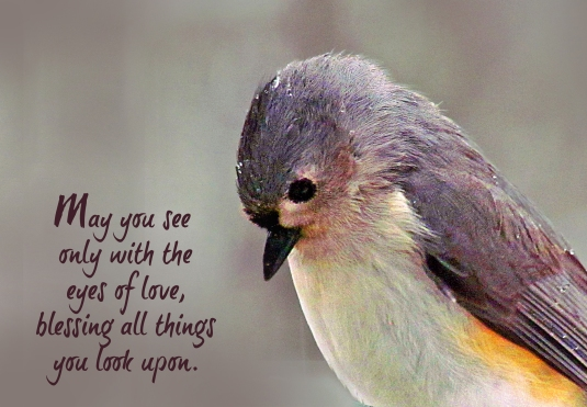 A blessing about seeing all things with eyes of love.