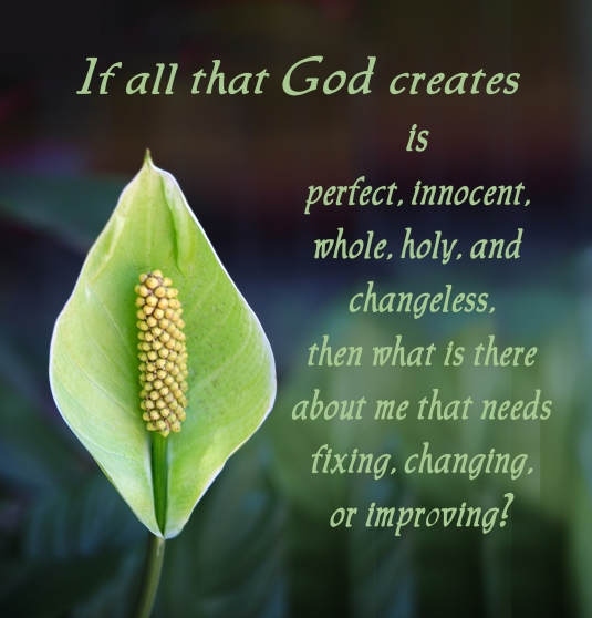 A questions to ask yourself about trying to change what God created perfect.