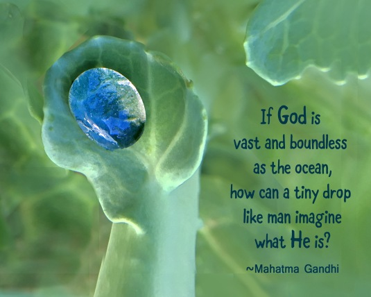 Gandhi quote about God.