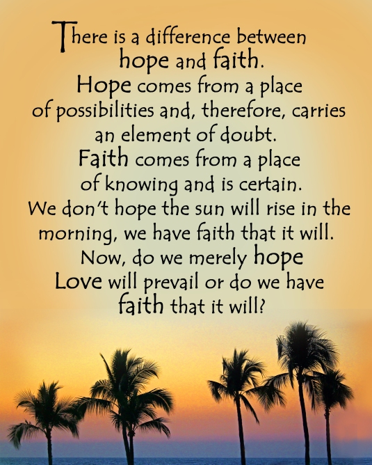 An question to ask ourselves about our faith in Love.