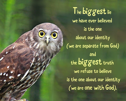 An inspirational quote about our identity based on acim.