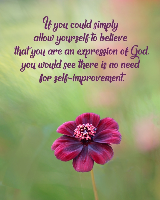 An inspirational quote about believing we are the extensions of God.