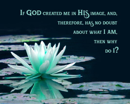 A spiritual question about why we doubt what we are.