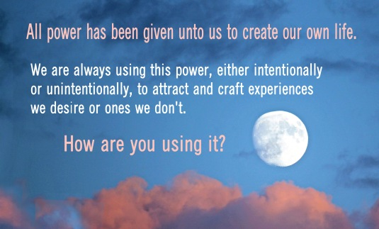 An inspirational message based on the Law of Attraction.