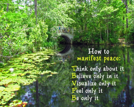 An Inspirational message about manifesting peace.