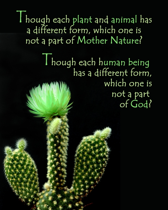 An inspirational question about our oneness with God.