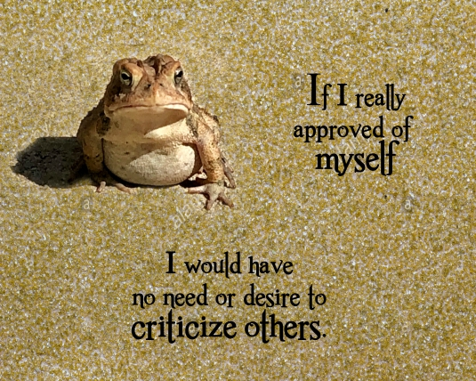 Some thoughts about why we criticize others.