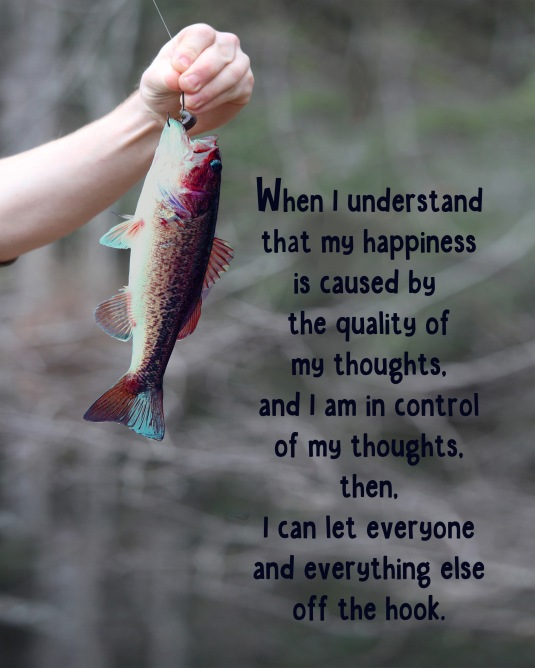 An inspirational quote about the relationship between our thoughts and our happiness.