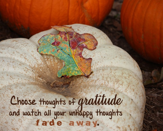 An inspirational quote about gratitude.