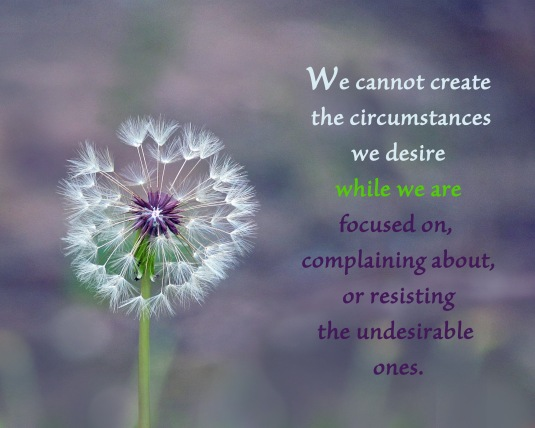 An inspirational quote about creating that which we desire.