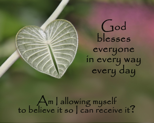An inspirational quote about the blessings of God.