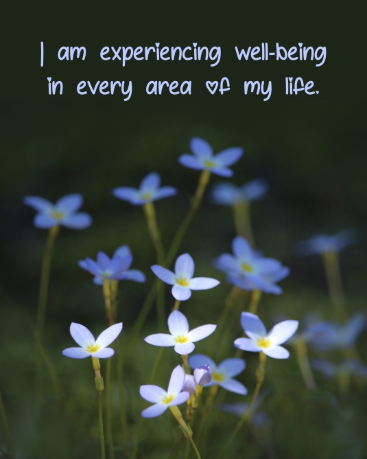 Affirmation: I am experiencing well-being in every area of my life.