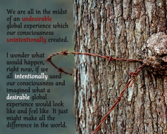 Quote about healing the world by changing our consciousness.