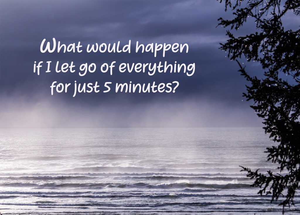 An inspirational question to ask yourself about letting go.