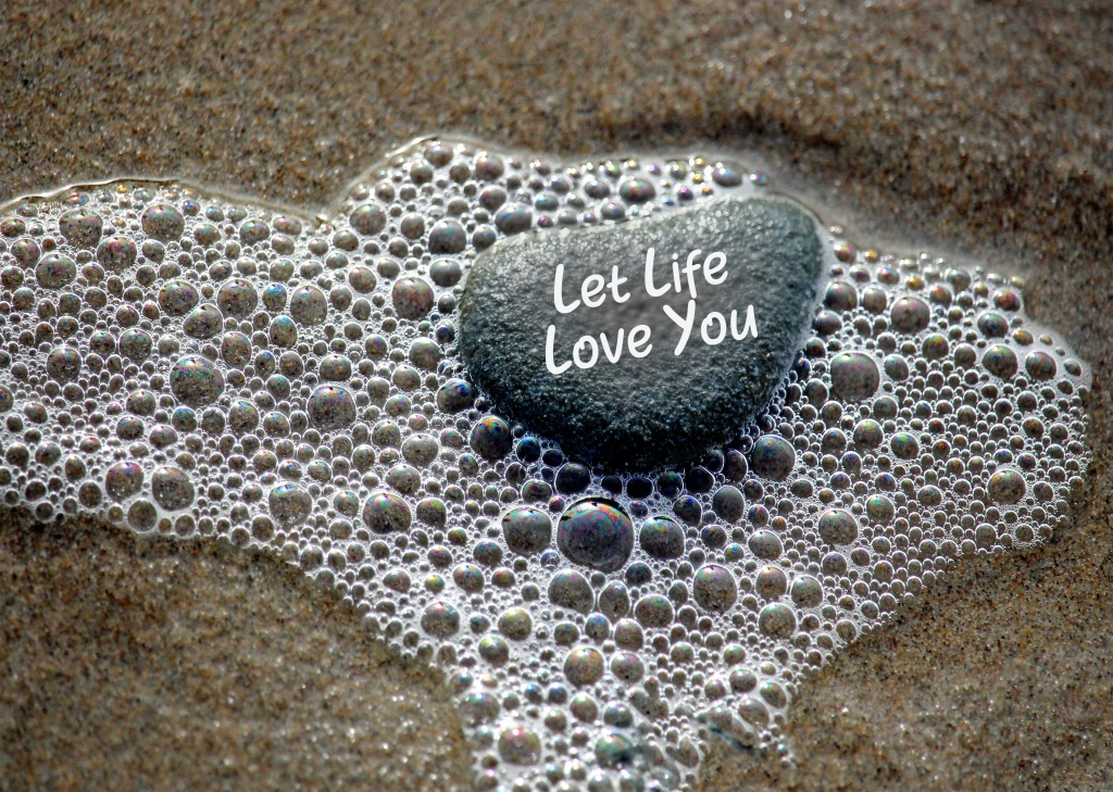 Life quote:  Let Life Love You